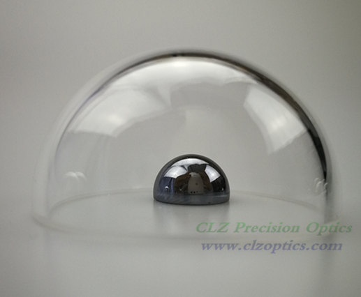 Optical Dome, 75mm diameter, 3mm thick, 37.5mm height, N-BK7 or equivalent type Dome Windows